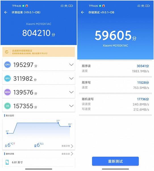 Что с производительностью одного из лучших камерофонов Xiaomi Xiaomi Mi 11 Pro протестировали в AnTuTu