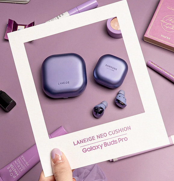 Представлены наушники Samsung Galaxy Buds Pro Laneige Neo Cushion Edition