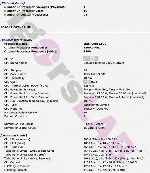 Таких процессоров у Intel еще не было. Опубликованы подробные характеристики 16-ядерного и 24-поточного Intel Core-1800