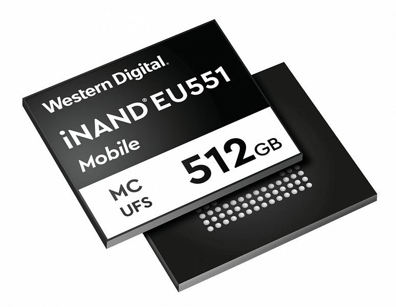 Встраиваемый твердотельный накопитель Western Digital iNAND MC EU551 предназначен для смартфонов с поддержкой 5G