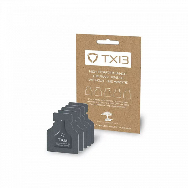 Термопаста Streacom TX13 поставляется порциями, рассчитанными на одно применение