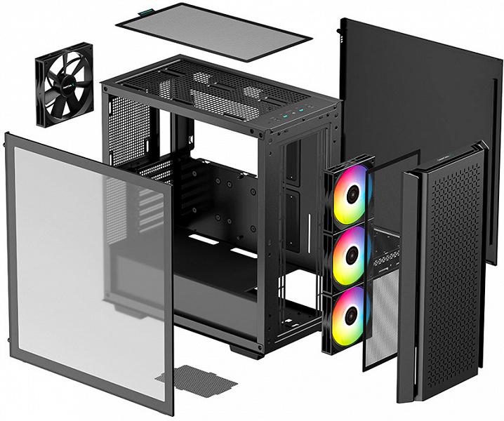 Корпуса DeepCool CG560 и CG540 различаются передними панелями
