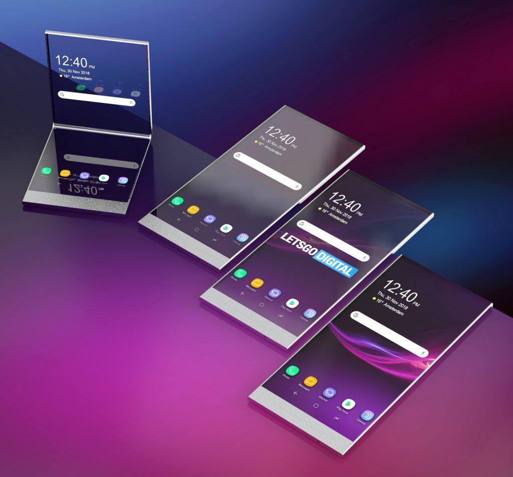 Сони запатентовала смартфон спрозрачным экраном