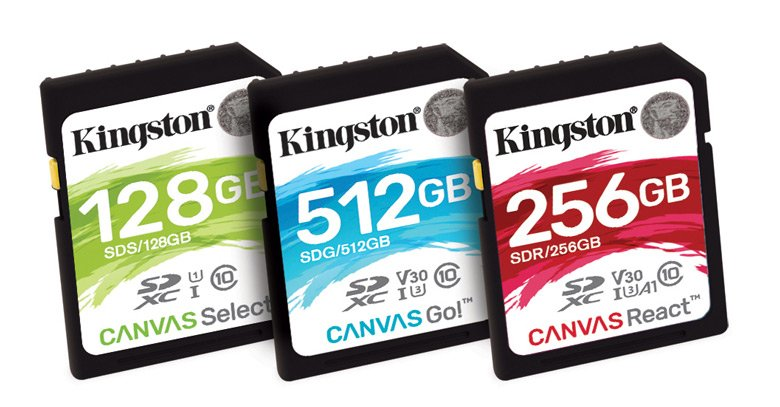 Карты памяти Kingston Digital Canvas выпускаются в форматах SD и microSD