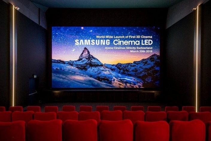 Samsung показала первый в мире кинотеатральный светодиодный экран с поддержкой 3D