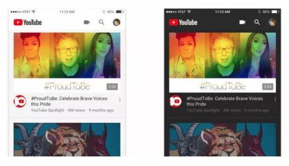 Мобильное приложение YouTube получило ночной режим