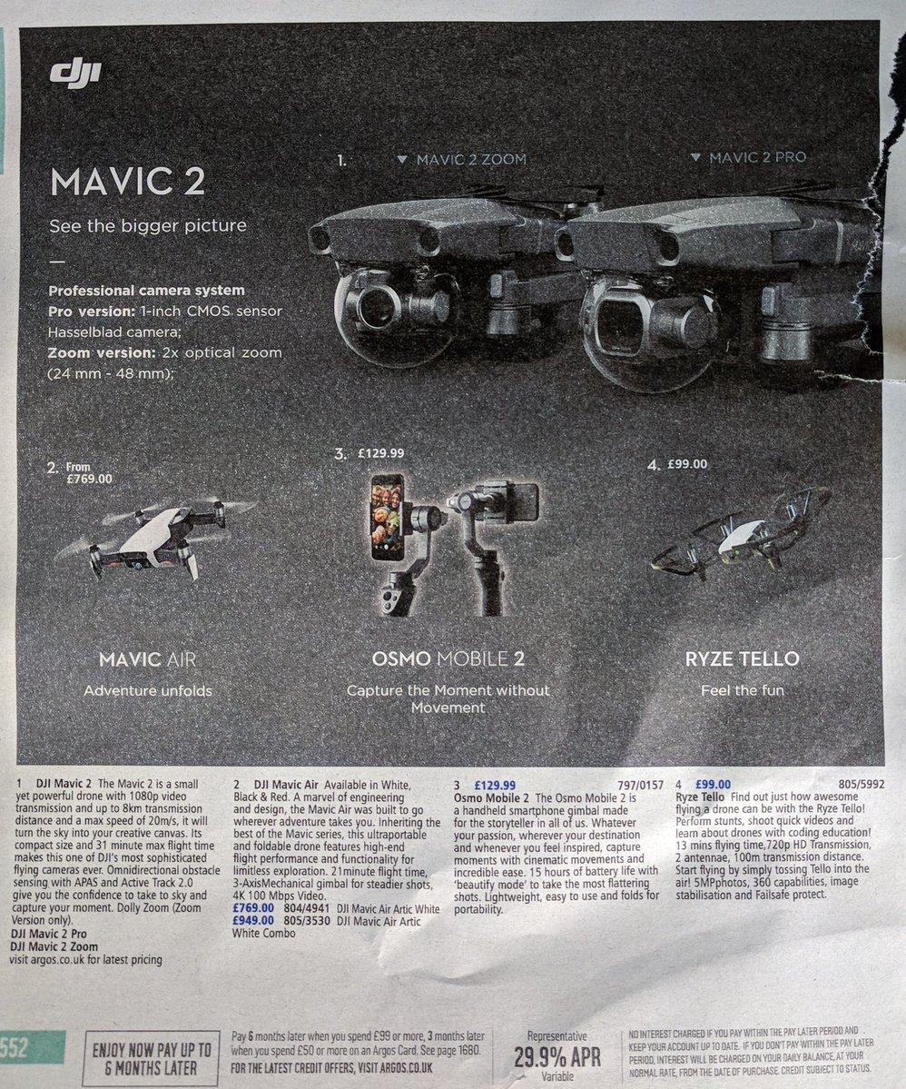 DJI Mavic 2— новая линейка дронов многообещающего уровня!