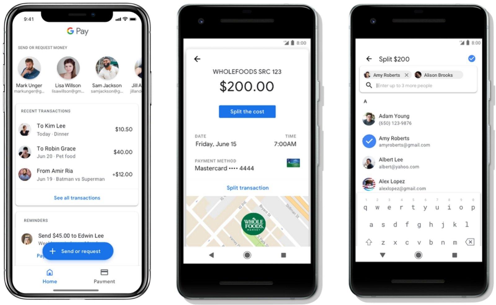 Пользователи Google Pay смогут делить счет на пятерых в ресторанах