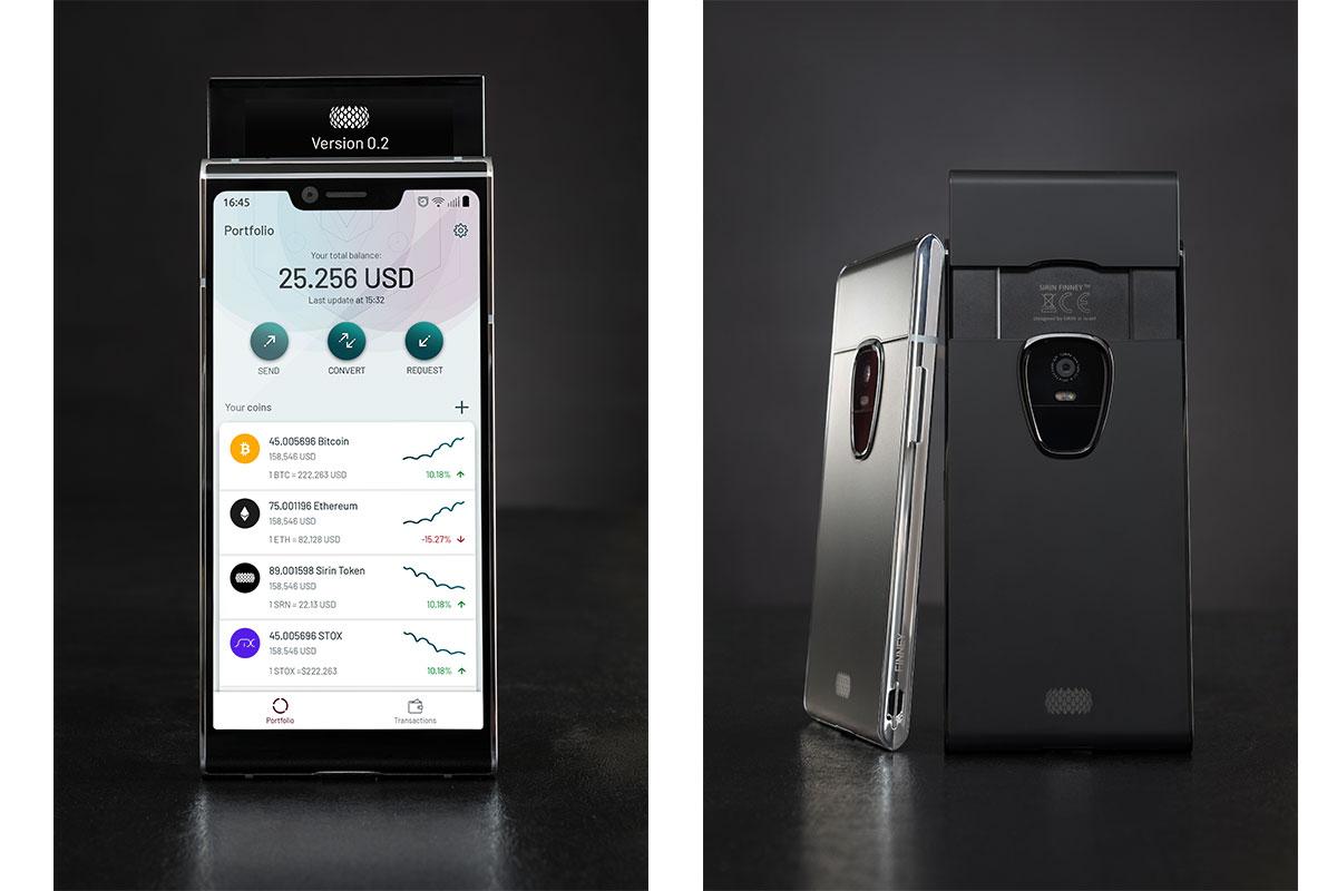 Первый в мире блокчейн-смартфон Sirin Finney станет слайдером
