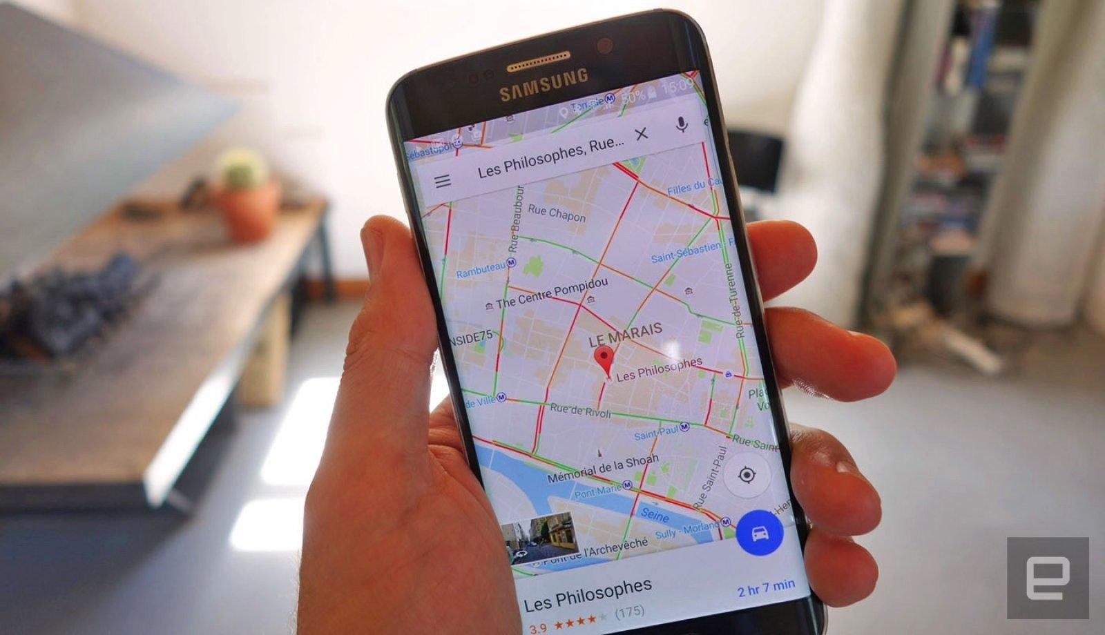 ВGoogle Maps сейчас можно сообщить уровень заряда аккумулятора телефона
