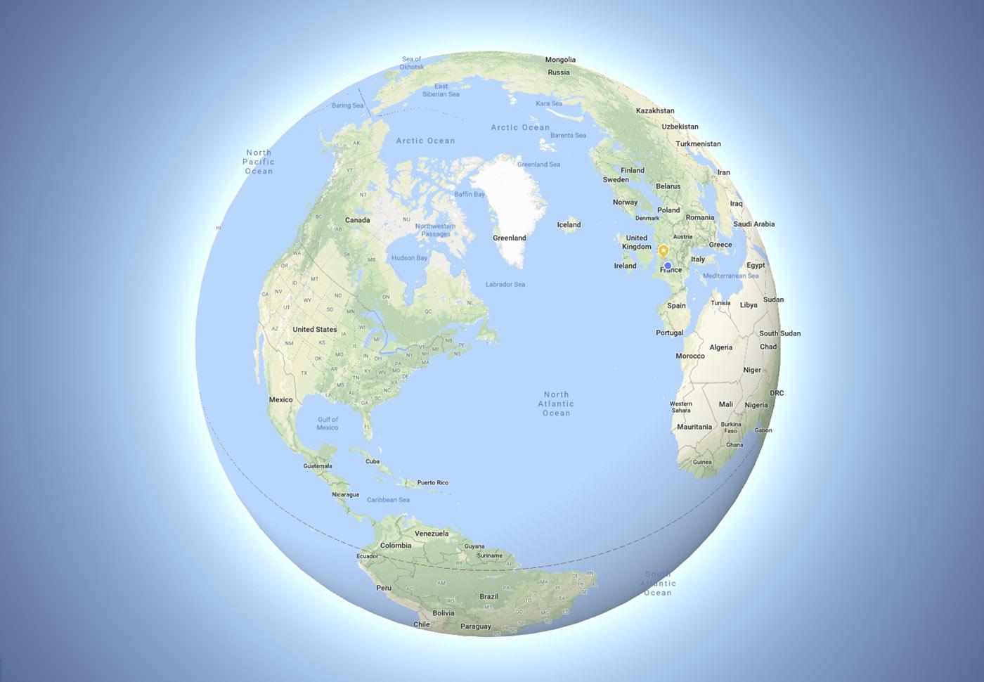Ивсё-таки она круглая. ВGoogle возникла правильная Земля