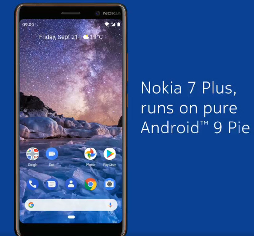 Nokia 9 спятью камерами показали наживом фото