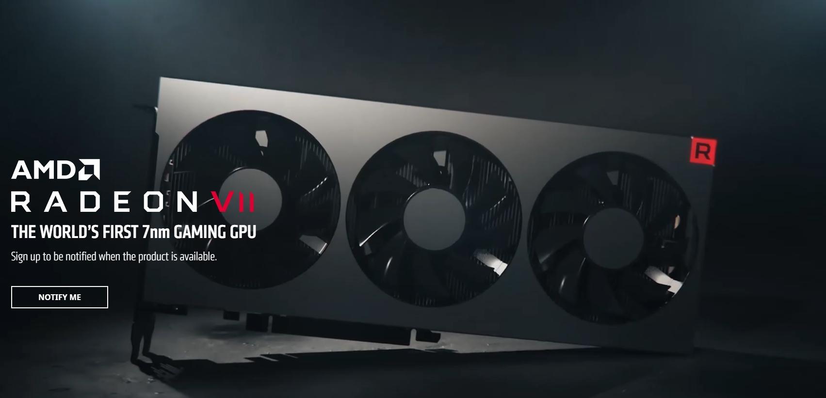 Представлена видеокарта AMD Radeon VII: семинанометровый GPU
