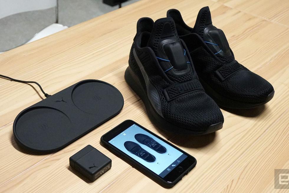 Пума представила неповторимую модель кроссовок, наделенную механизмом самозашнуровывания