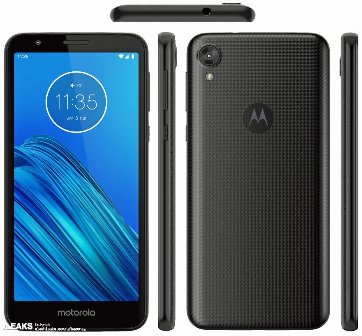 Смартфон Motorola Moto E6 показали наофициальных рендерах