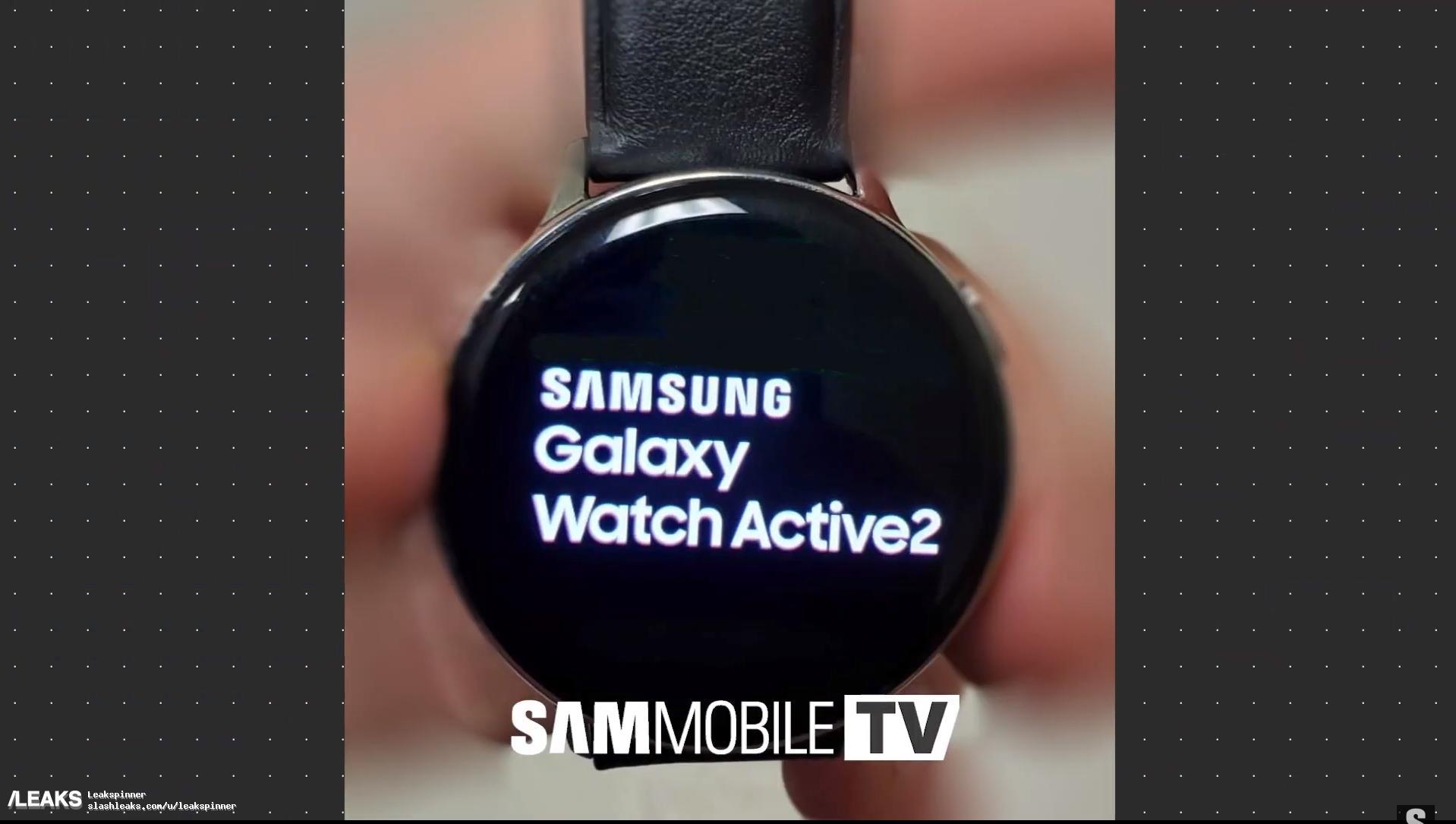 Утечка демонстрирует смарт-часы Samsung Galaxy Watch Active 2