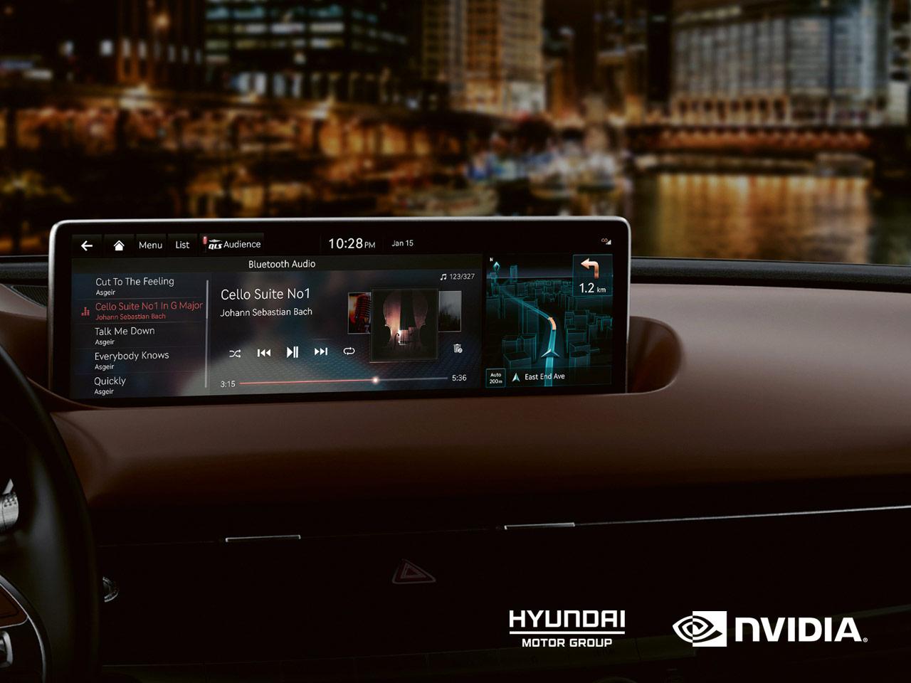 Платформа Nvidia Drive выбрана для информационно-развлекательных систем всех будущих машин Hyundai Kia и Genesis
