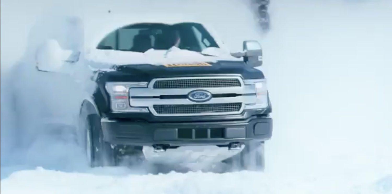 Опубликовано видео зимних испытаний электрического пикапа Ford F-150
