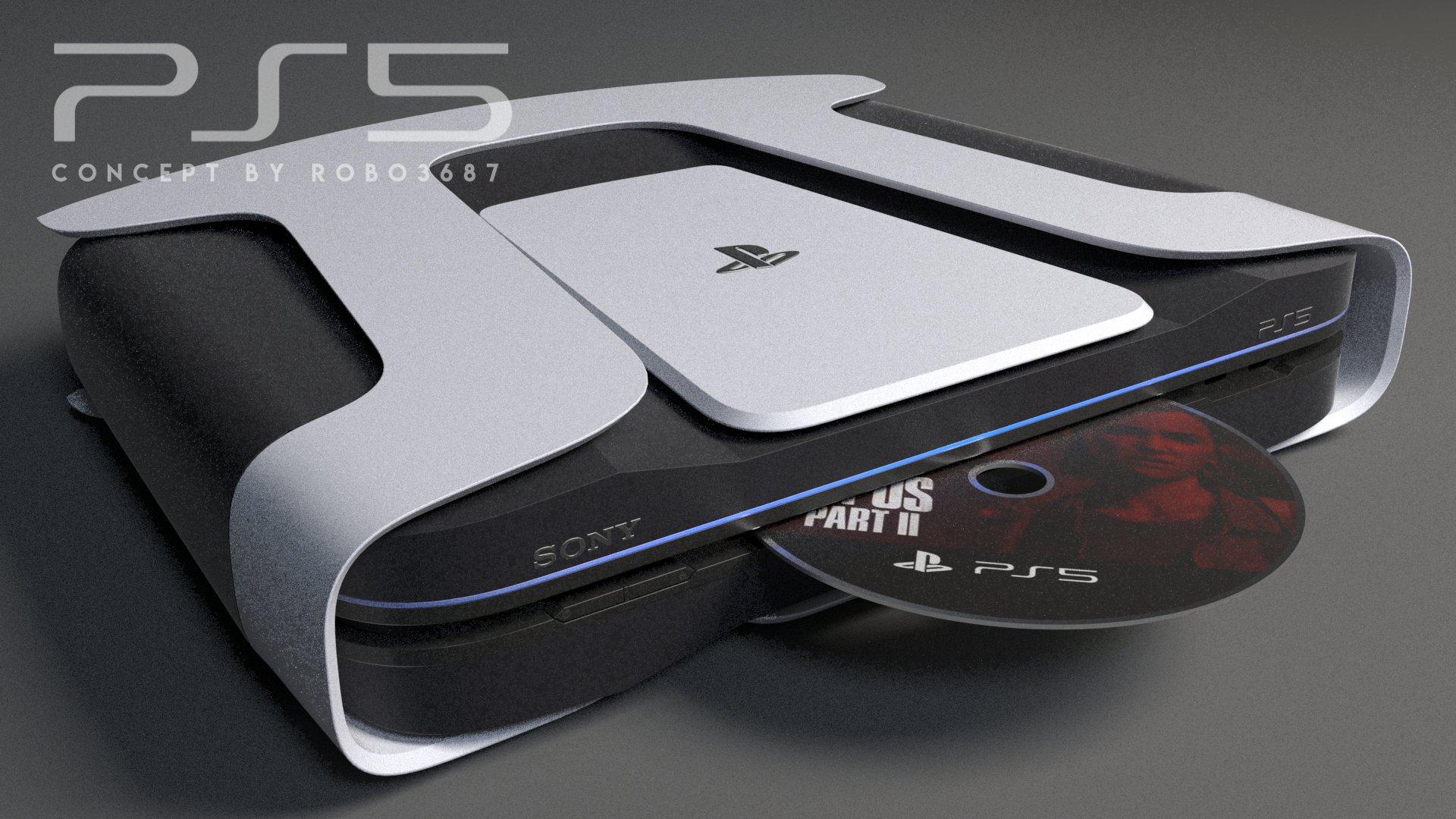 Новые рендеры PlayStation 5 с DualSense и в стиле Xbox Series X