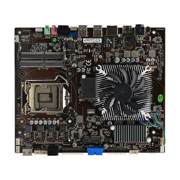 Системная плата с распаянной GeForce GTX 1050 Ti. Zeal-All ZA-SK1050 рассчитана на старые CPU Intel