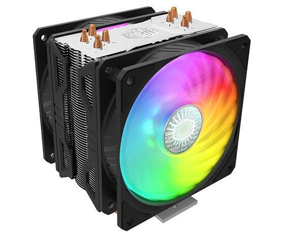 Процессорная система охлаждения Cooler Master Hyper 212 ARGB Turbo оснащена двумя вентиляторами