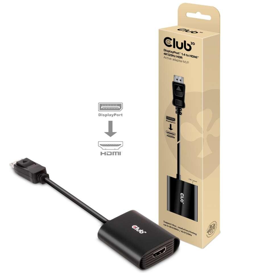 Адаптер Club 3D CAC-1085 превращает DisplayPort 1.4 в HDMI с поддержкой разрешения 4K и кадровой частоты 120 Гц