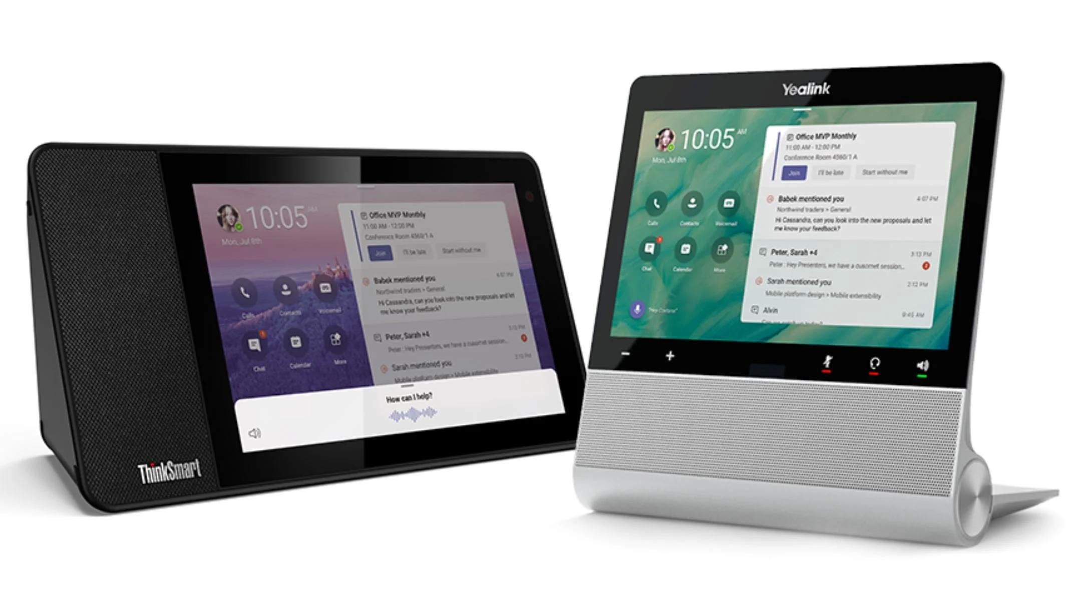 Microsoft представила «настольный телефон с сенсорным экраном»