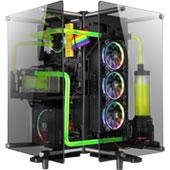 Видеообзор Thermaltake Core P90 Tempered Glass Edition: корпус в виде призмы со стеклянными стенками
