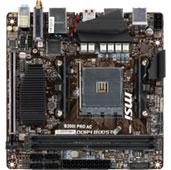 материнская плата msi b350i pro формата mini-itx чипсете