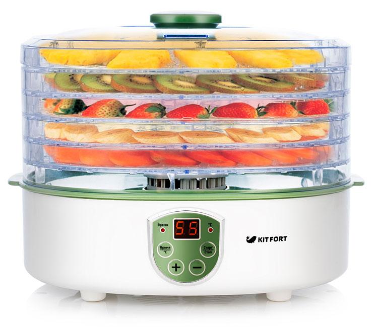Сушилка для овощей и фруктов (дегидратор) Kitfort KT-1902: сушит любые продукты, которые не убегают сквозь решетку