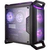 Корпус Cooler Master MasterBox Q300P для плат формата microATX: модульный MiniTower с акриловыми панелями и RGB-подсветкой