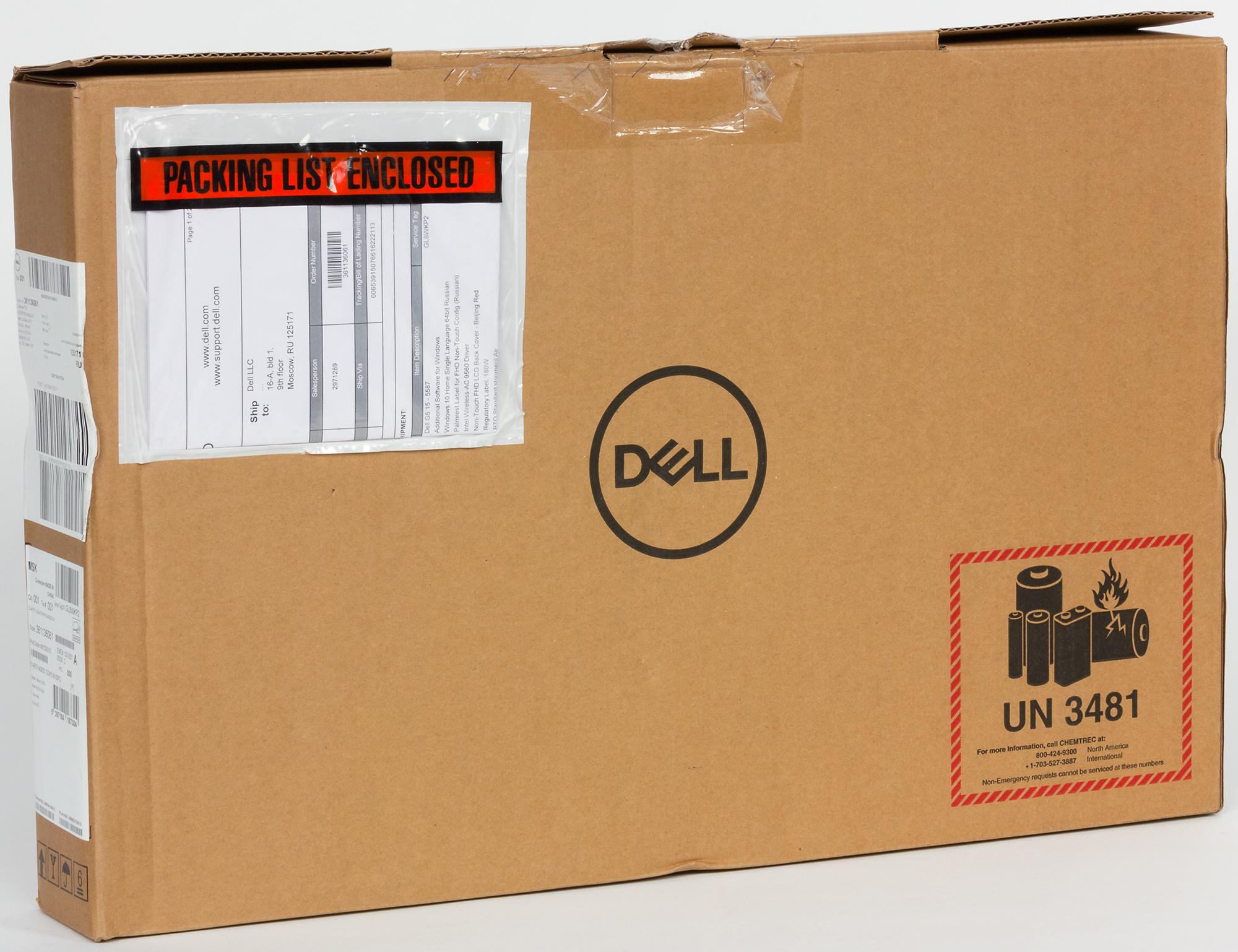 Обзор игрового ноутбука Dell G5 15-5587 с видеокартой Nvidia GeForce