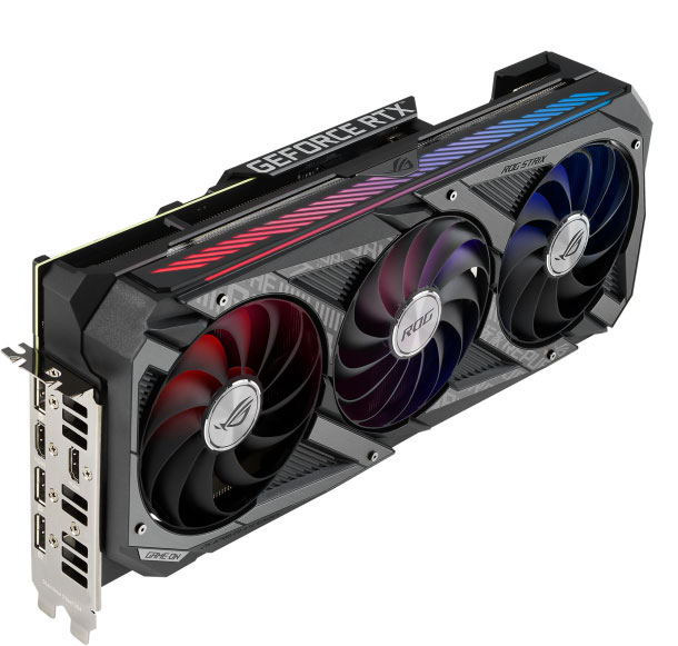 Видеокарта Asus ROG Strix GeForce RTX 3060 Ti OC Edition (8 ГБ): очень эффективная тихая, но крупная СО