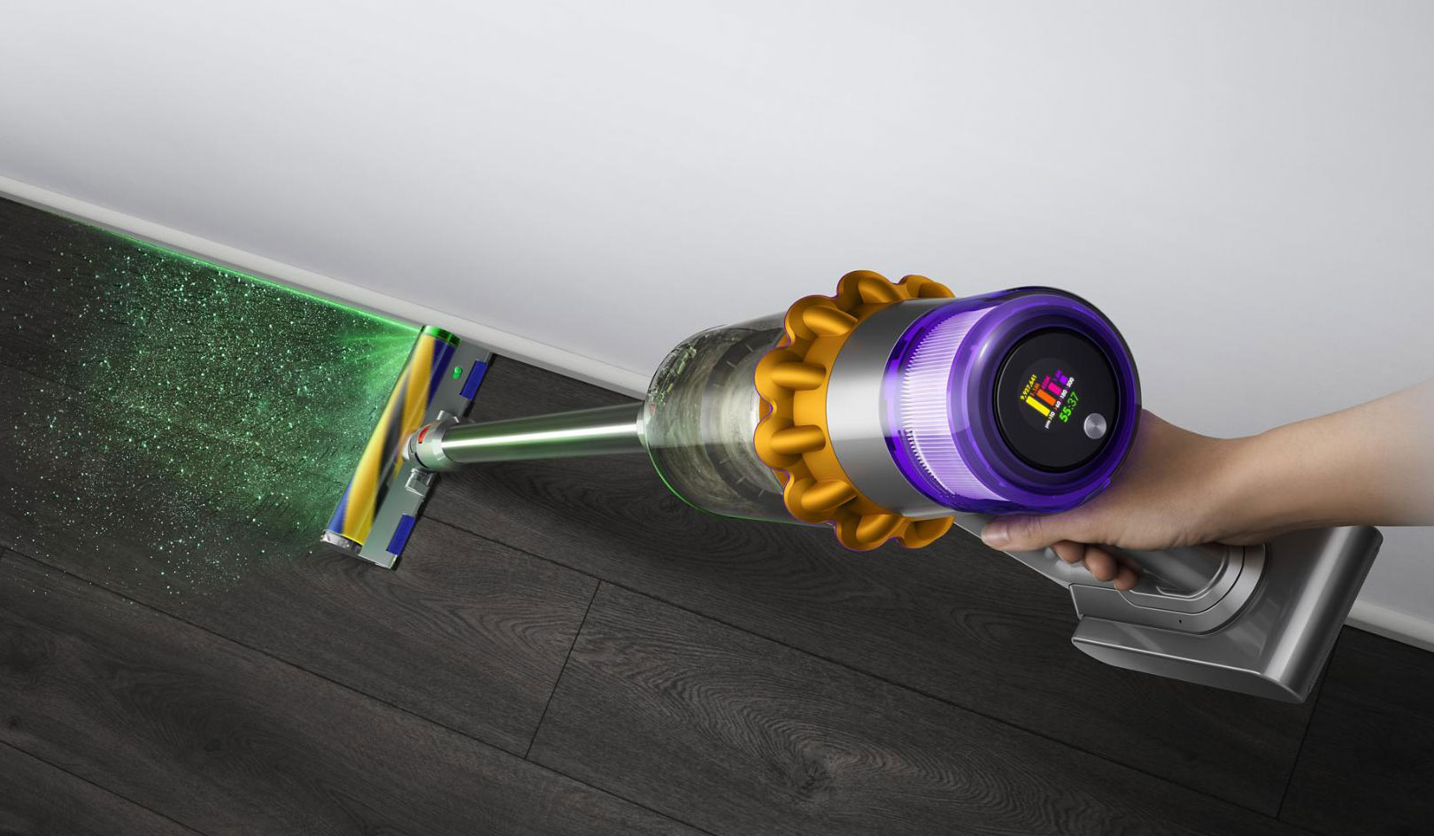 Вертикальный пылесос Dyson V15 Detect Absolute: лазер, дисплей и автоматическая регулировка мощности