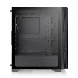 За стеклянной передней панелью корпуса Thermaltake Versa T25 TG можно установить два 200-миллиметровых вентилятора