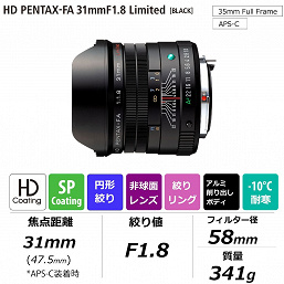 Стали известны цены трех объективов HD Pentax-FA Limited и камеры K-1 Mark II J Limited 01