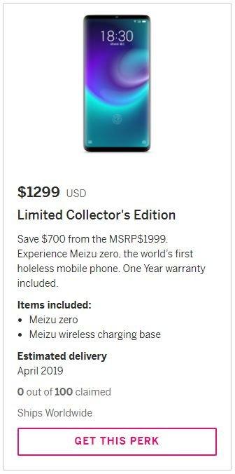 Высокая цена технологий: рекомендованная розничная цена Meizu Zero, первого в мире смартфона без отверстий, составила $2000