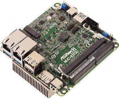 На миниатюрной плате ASRock NUC-8365U установлена однокристальная система Intel Core i5-8365U или Core i7-8665U