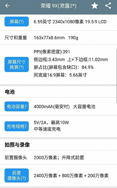 Опубликованы характеристики смартфонов Honor 9X и Honor 9X Pro