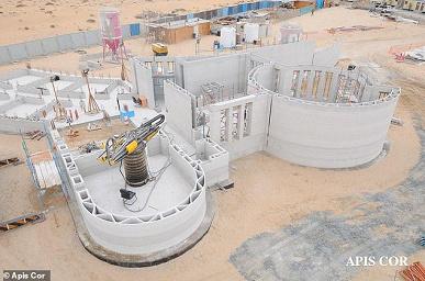 Самое большое напечатанное здание возвели в Дубае
