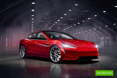 Дизайнер показал обновленный Tesla Model 3, выполненный в духе Roadster 2