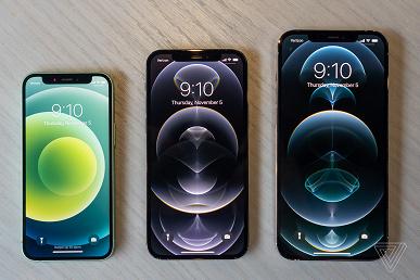 iPhone 12 mini и iPhone 12 Pro Max сравнили с другими смартфонами Apple