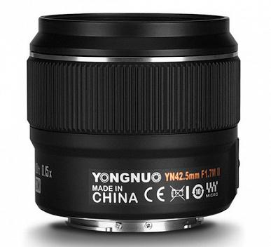 Объектив Yongnuo YN 42.5mm f/1.7M II предназначен для камер системы Micro Four Thirds