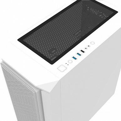 Передняя панель компьютерного корпуса Montech Air X ARGB изготовлена из сетки