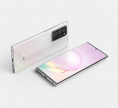 Именно так с большой долей вероятности будет выглядеть Samsung Galaxy Note20+