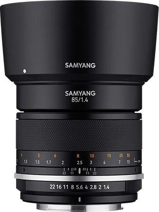 Объектив Samyang MF 85mm F1.4 MK2 выпускается в вариантах с креплениями Canon EF, Nikon F, Sony E, Fujifilm X, Canon M и MFT