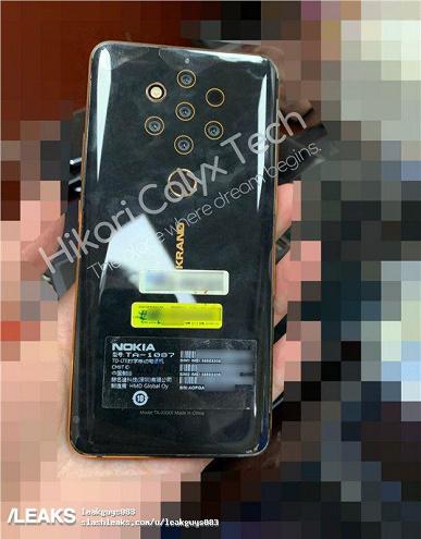 Опубликованы фотографии прототипа пятикамерного смартфона Nokia 9 Pureview
