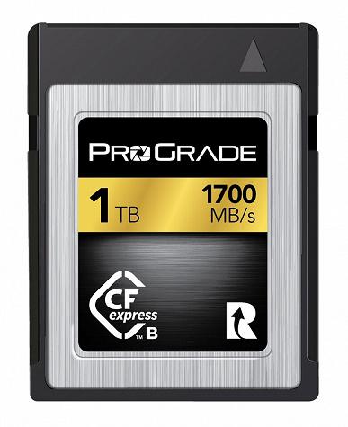 Компания ProGrade Digital представила карты памяти CFexpress Type B, развивающие скорость передачи данных 1700 МБ/с