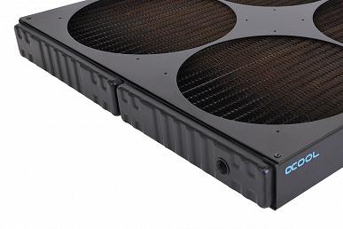 На радиаторах Alphacool NexXxoS XT45 Full Copper 1260mm SuperNova и NexXxoS XT45 Full Copper 1080mm Nova помещается по девять вентиляторов