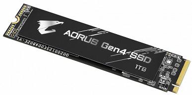 Твердотельные накопители Gigabyte Aorus Gen4 предложены объемом 500 ГБ, 1 ТБ и 2 ТБ